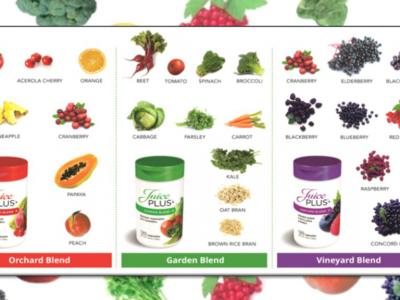 nutricion juice plus fruta verdura